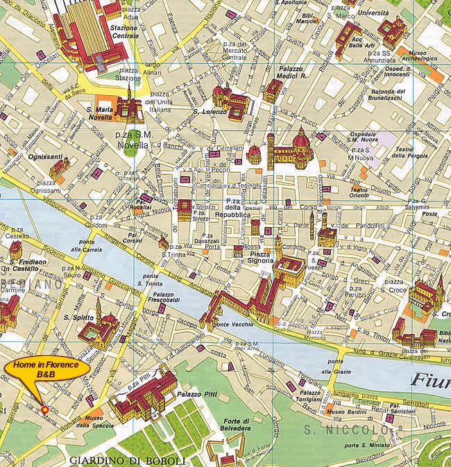 Map Of Tourist Attractions In Florence Italy Best images about